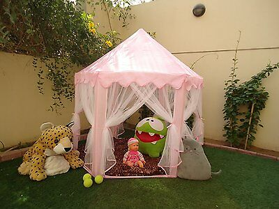 Pink Princess Castle Play Tent Kids Children Girls Perfect Gift Toy In/Outdoor#B