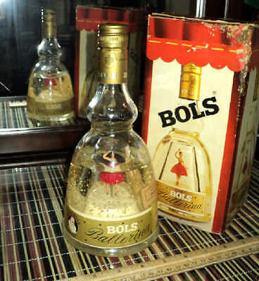 >>Rare Vintage (pre 1965) Bols Gold Dancing Ballerina Bottle Unopened With Box<<