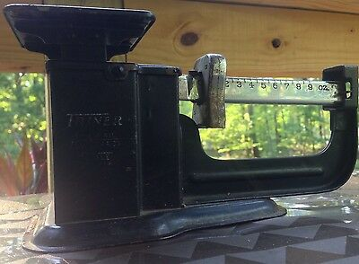 """Vintage """"Triner Airmail Accuracy Scale"""" CHICAGO 9 Ounce Capacity"""