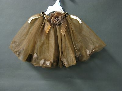 NEW Brown Rose Petal Tutu Dance Ice Skating Photo Prop Girls One Size Pictures