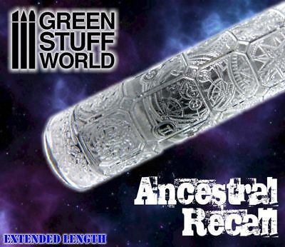 Rolling Pin - ANCESTRAL RECALL Texture - for Warhammer and miniature bases