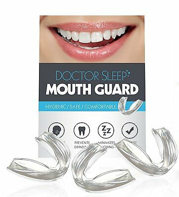 DoctorSleep Thin and Trim Anti Grinding, Teeth Whitening Mouth Guard, Pack of 3