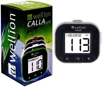 Wellion Calla Light Blood Glucose Monitoring System mg/dL Silver Color + Strips