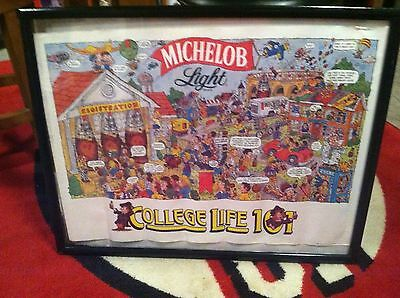 Michelob Light College Life 101  1987 Poster