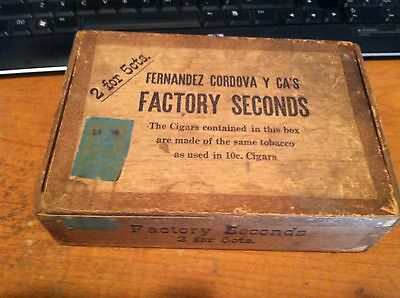 1938 Factory Seconds Cigar Box - New Jersey Factory 1282