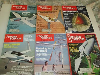 Popular Science magazine lot (15 issues) 1977-1982