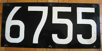 Vintage New York Subway Car Number Board Plate Sign R-17 6755 St. Louis Car Co.