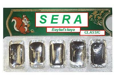"""Russian chewing the pellets HEALTH OF THE GUMS -Сера- Naturale""""Sera Baikal"""""""