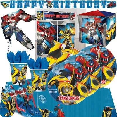 Transformers Optimus Prime Party Supplies Tableware, Decorations, Balloons, Bags