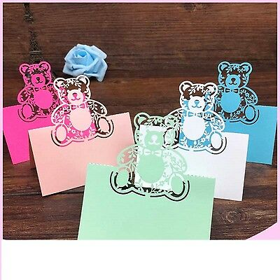 Christening Party 40pcs Laser Cut Baby Shower Birthday Table Name Place Card