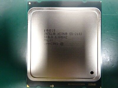 20x Intel Xeon Quad Core E5-2603 1.80GHz Processor  CPU  LGA 2011  SR0LB  JOBLOT