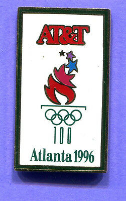 1996 Olympic At&t Atlanta Games Pin Torch Pin White Pin# 516094