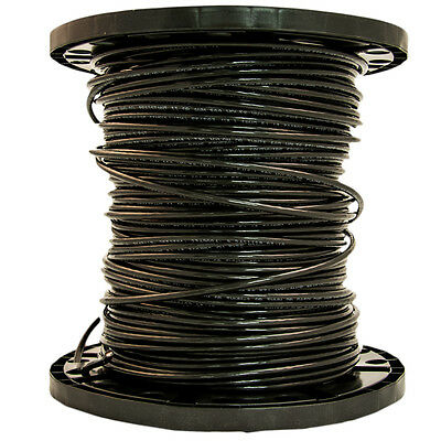 Southwire 6-AWG Stranded Black Copper THHN Wire 500-ft (By-the-Roll)