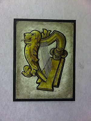 Beautiful Stained glass. Hand painted .Kiln fired. 165  x 125 mm, New.