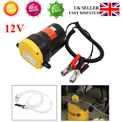 1X 12V Electric Fluid Extractor Oil Diesel Transfer Pump Car Motorbike UK SELLER