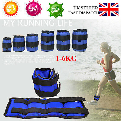 2x Wrist Ankle Leg Weight Strap Wrap Fitness Gym Training Various Weights UK New