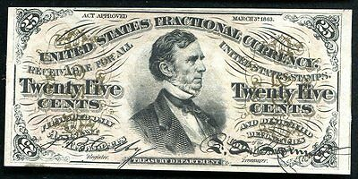 Fr. 1292 25 Twenty Five Cents Third Issue Fractional Currency Uncirculated
