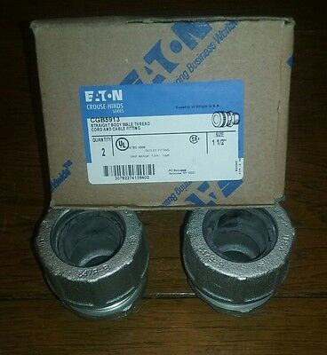 """Eaton/crouse-Hinds Cgb5913, 2-Pk, 1-1/2"""", Male, Cord & Cable Fitting, Free Ship"""