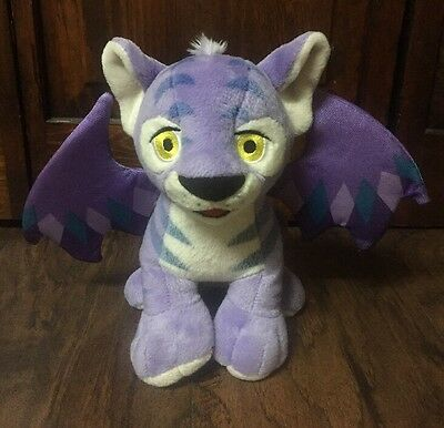 "Cute 2003 NeoPets ""Faerie Kougra"" Talking Light-Up 9"" Collectible Plush EUC"