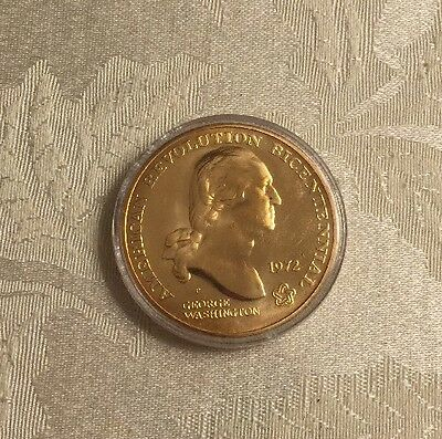 1972 American Revolution Bicentennial Coin - George Washington - Liberty Tree