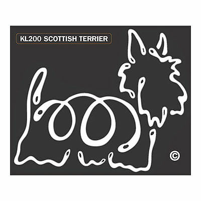 Scottish Terrier Scottie Dog K-Lines Dog Car Window Tattoo Decal Sticker