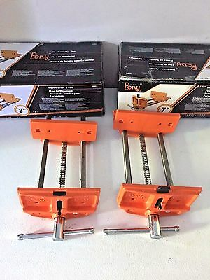 Two (2) Pony Jorgensn Woodworkers 27091 Vise 9-Inch Opening Capacity-Wood Shop