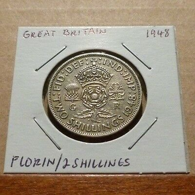 FLORIN / 2 SHILLINGS COIN - 1948 - Great Britain