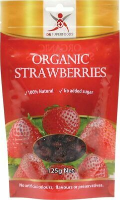 Organic Dried Strawberries 125g - Dr Superfoods