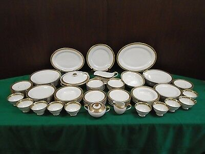 Heinrich H&C China 1564 REGAL 87pc Dinnerware Set Service for 10+ Gold Encrusted