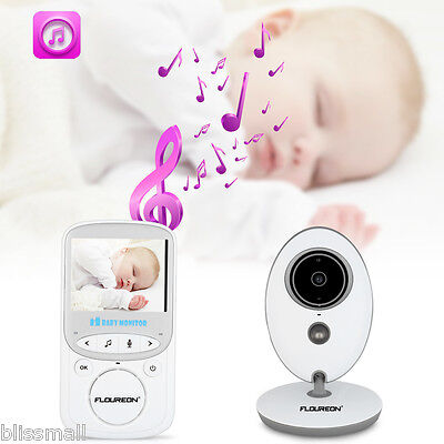 "2.4"" Color LCD Baby Monitor Secure 2.4GH Wireless Digital Audio Video IR Night"