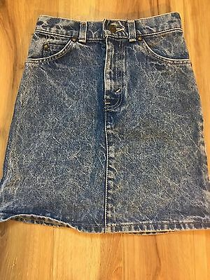 VTG 90s High Waisted LEVIS Stone Wash DENIM SKIRT Youth 10 Made In USA