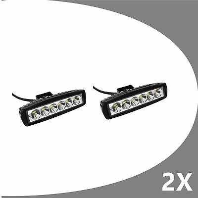 2 x 6inch 30W LED Work Light Bar Driving Lamp Flood Truck Offroad UTE 4WD