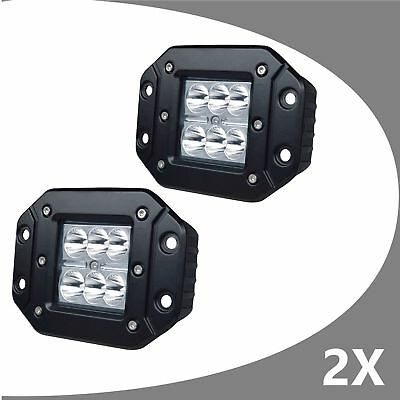 2 x 30W 5inch CREE LED Work Light Bar Flood Driving Lamp Mount Offroad 4WD Truck