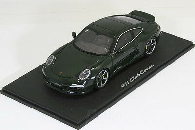 Spark 1/43 Porsche 911 991 Club Coupe Green 60th Anniverdsry