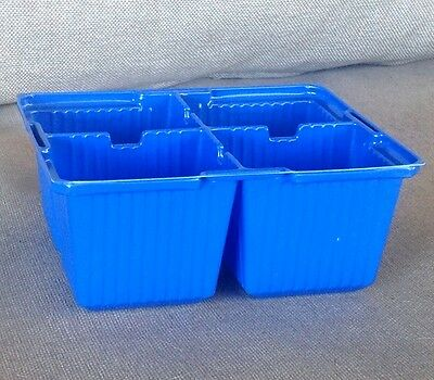 4 Cell Plant Punnets blue X 24 SPECIAL CLEARANCE PRICE for seedlings