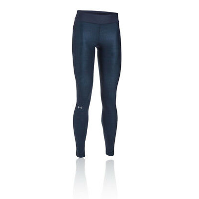 Under Armour Womens Blue Compression Running Long Tights Bottoms Pants