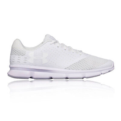 Under Armour Micro G 2 Mens White Cushioned Running Sports Shoes Trainers