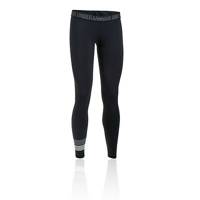 Under Armour Womens Black Compression Running Long Tights Bottoms Pants