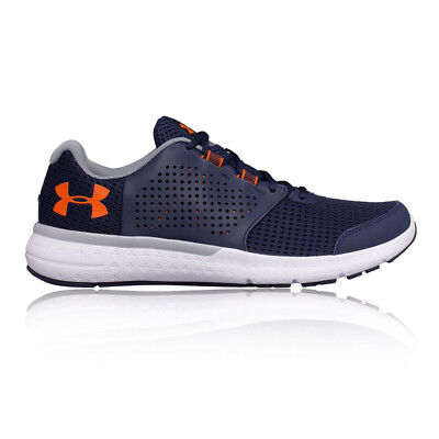 Under Armour Micro G Mens Blue Cushioned Running Sports Shoes Trainers