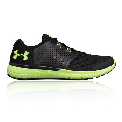 Under Armour Micro G Mens Black Cushioned Running Sports Shoes Trainers