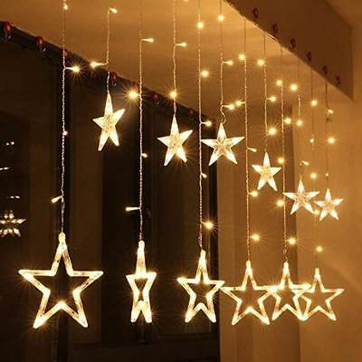 led lichtervorhang weihnachtsdeko lichterkette fensterdeko fenster sterne 90 eur 24 90. Black Bedroom Furniture Sets. Home Design Ideas