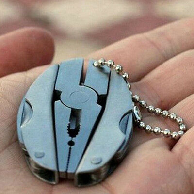 Pocket Multi Function EDC Tools Keychain Mini folding Pliers Cutter Screwdriver