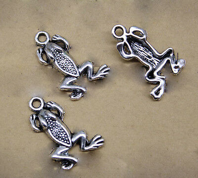 Lot 10/30/60/100pcs Retro Jewellery Making Frog Alloy Charm Pendant DIY 21x14mm