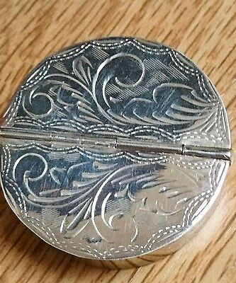 Super Sterling Silver Double Pill Trinket Box With Hallmarks ~ Gm London H.marks