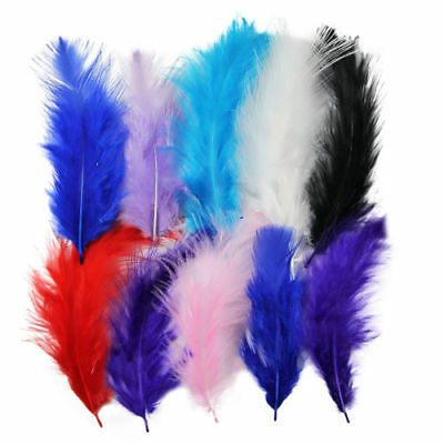 50 pcs Ostrich Feathers Dyed Craft Costume Hat Card Millinery Dress Making
