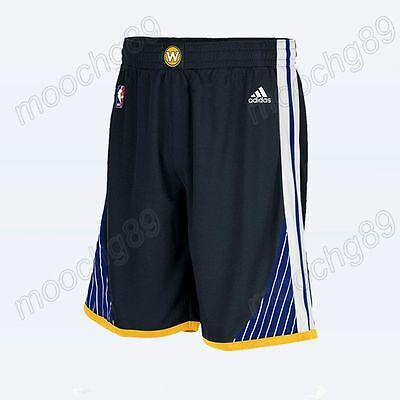 New Black Golden State Warriors Men's Basketball Shorts Size:S,M,L,XL,XXL