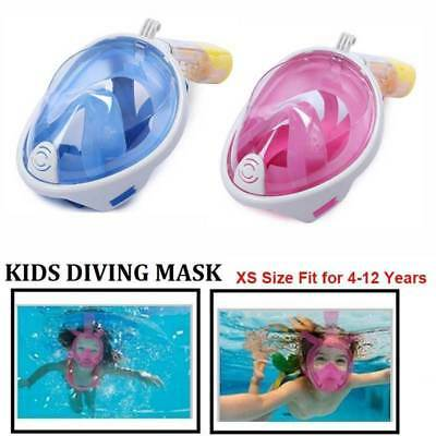XS Breath Full Face Mask Surface Diving Snorkel Scuba Swimming Tool 4-12Yrs Kids
