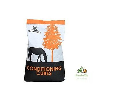 20KG HUTTON MILL CONDITIONING CUBES HORSE FEED Food with Linseed Meal & Soya Oil