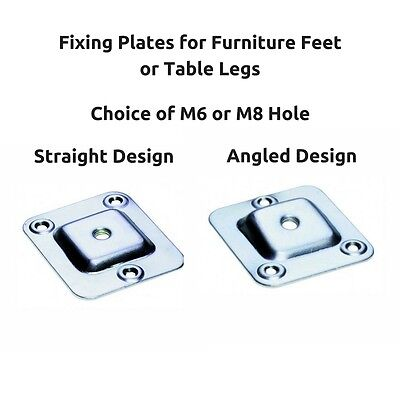 M8 Square Strong Sturdy Table Leg Feet Foot Mounting Fixing Furniture Brackets
