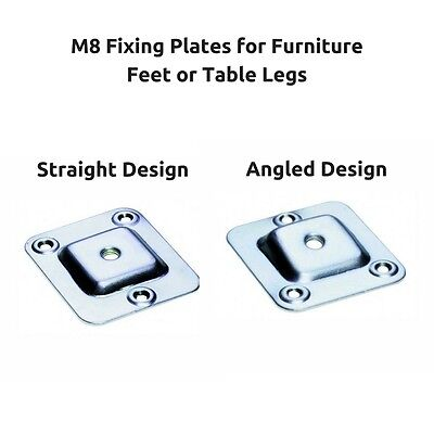 M8 Furniture Fixing Brackets Plates Straight /Angled Design for Feet Table Legs